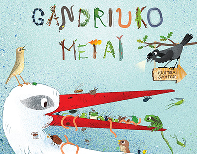 Gandriuko metai. Illustrations for a children book.