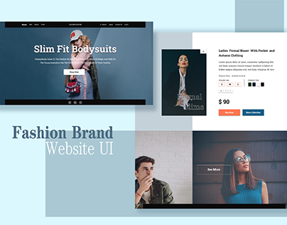 wearable clothing Fashion Brand Website UX