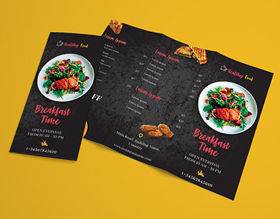 Download Free Restaurant Tri-Fold Brochure Template