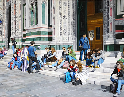 Sitting on the Steps of the Duomo
