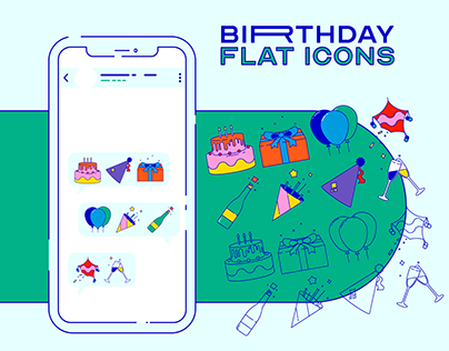 Birthday — Flat icons