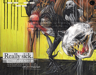 Really Sick - Depression Illustrated