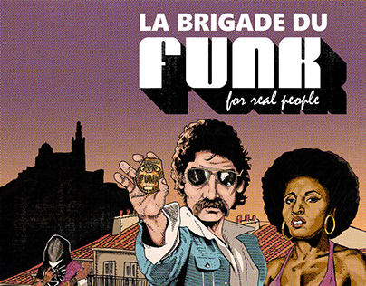 Illustration for poster promoting La Brigade du Funk