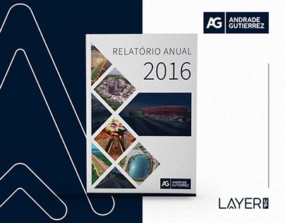 Projeto Gráfico do Relatório Anual - Andrade Gutierrez
