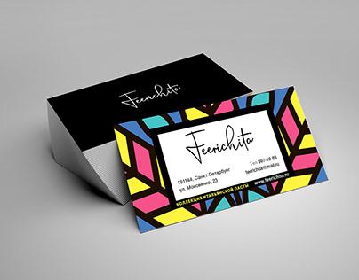 Feerichita. Наклейка на упаковку и визитка