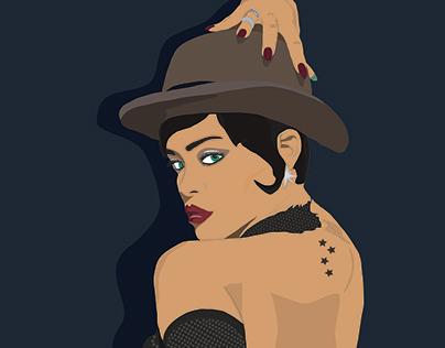 Rihanna illustration, art, graphic design, draw