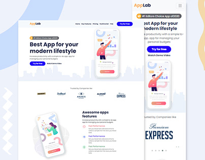 HTML Landing Page Website Design