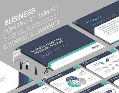 Business Powerpoint Template vol.3