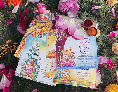 Ganesha Indian Wedding Invitation Suite by SCD Balaji