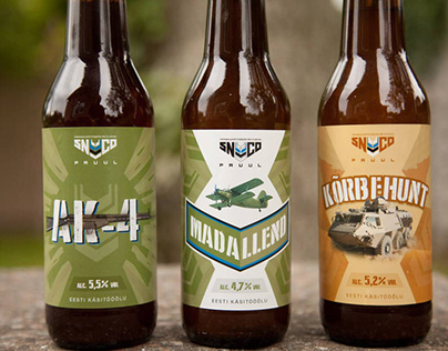 Beer labels for SNCO Brewery