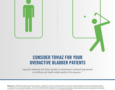 Toviaz ad for physicians - for overactive bladder