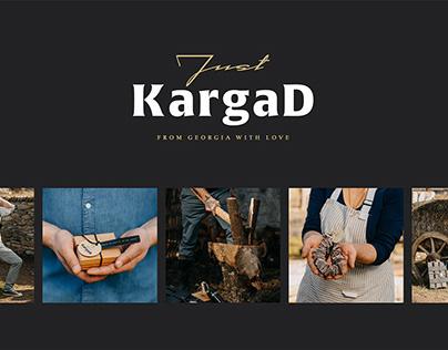 Логотип и стиль бренда Just Kargad