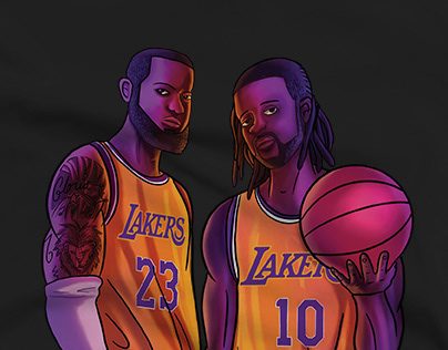 LeBron James and a Friend