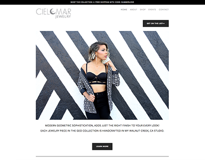 CIELOMAR JEWELRY WEBSITE