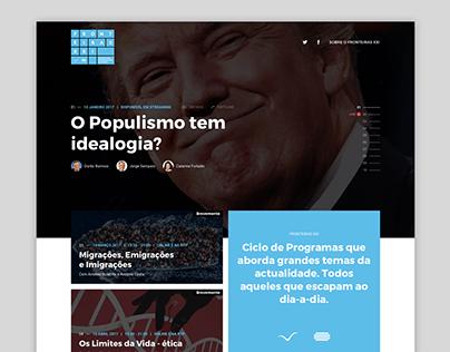 Fronteiras XXI public tender - website webdesign