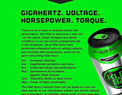 Killer Buzz distributor ad