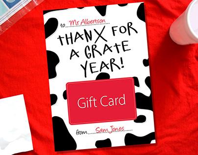 Teacher Thank You Card Collection