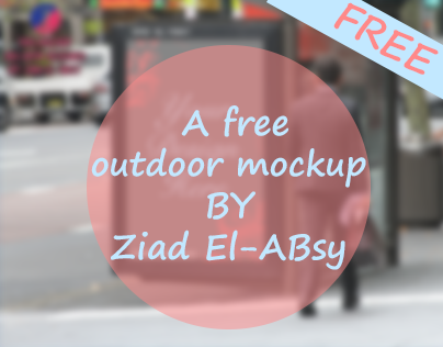 A free outdoor mockup BY Ziad El-Absy