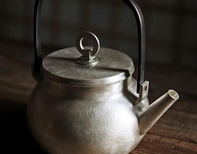 Handmade silver pot / Japanese style