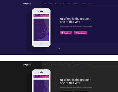 AppPrep - Creative App Landing Page HTML5 Template