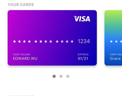Visa card motion design