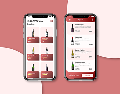Wine Delivery Mobile App UI
