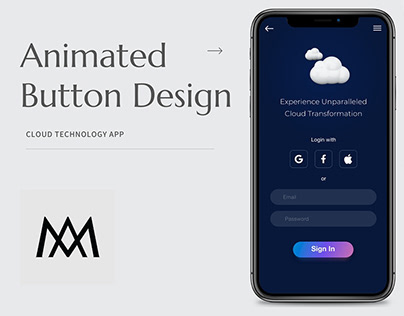 Animated Button - Cloud Technology