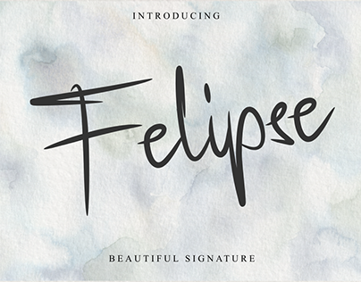 Felipse Font - Beautiful Signature
