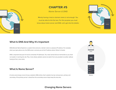 Web Hosting 101 Infographic - Chapter 5 (Server & DNS)
