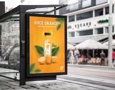Juice Oranges Poster
