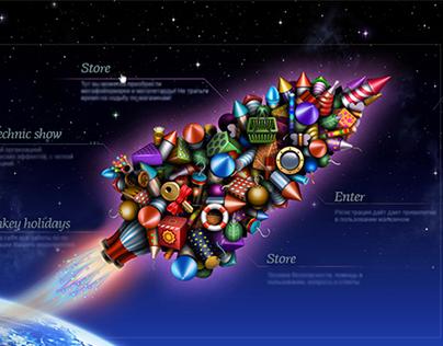 Design of the webstore for fireworks