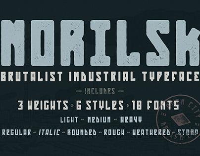 Norilsk - Brutalist Industrial Typeface