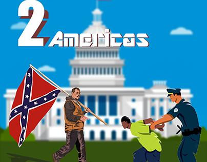 Two Americas Digital Illustration
