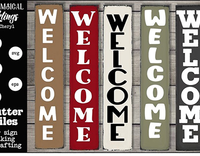FREE Porch Sign SVG - Welcome