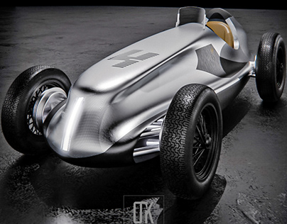 Electrical Retro Race Car Concept