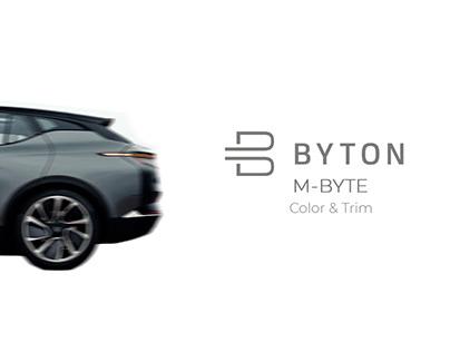 BYTON M-BYTE Color & Trim.