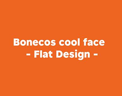 COOL FACE - FLAT DESIGN