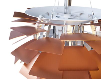 PH Artichoke pendant lamp - 3D product visualization