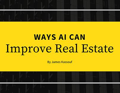 Ways AI Can Improve Real Estate