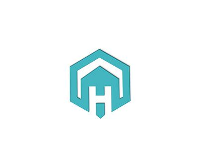 H letter logo real estate design