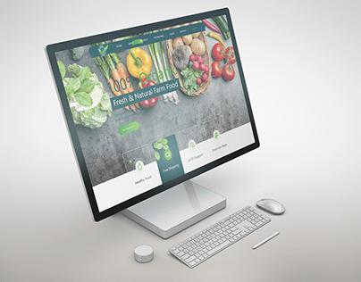 E-commerce Web Vegetable Store Design