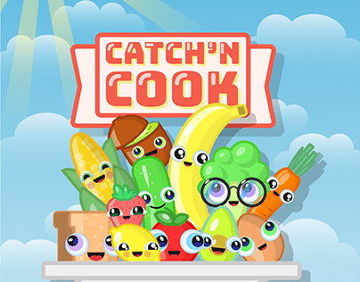 Catch'n Cook Game Title (Mobile Idle Cooking Game)