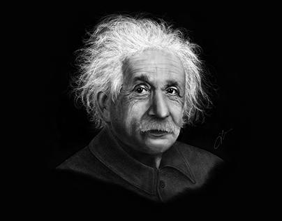Albert Einstein - Digital Illustration