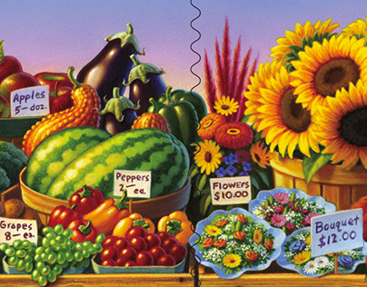 USPS Postage Stamp: Farmers Markets