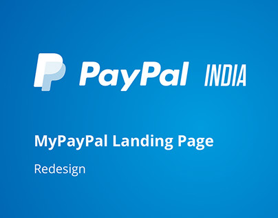 MyPayPal Landing Page redesign