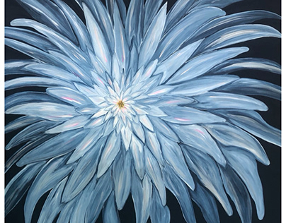 "Big Blue Flower 36"" x 36"""