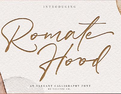 FREE | Romate Hood Elegant Calligraphy Font