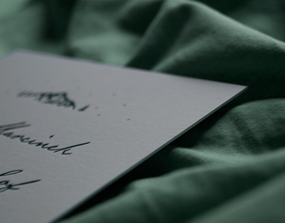 Letterpress wedding invitation set
