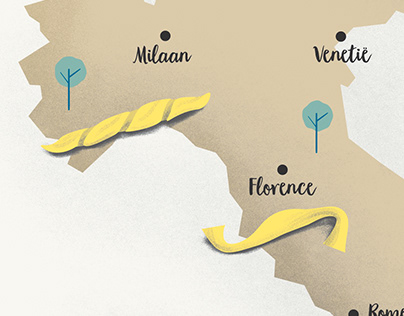 Pasta shapes of Italy