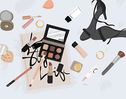 Trendy makeup illustration